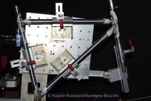 tacked frame in jig